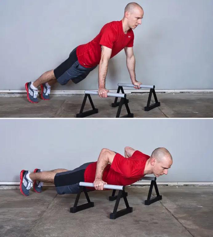 flexiones para prepararte de rutinas calistenia