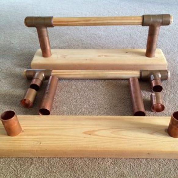 paralelas de madera caseras para entrenar la calistenia