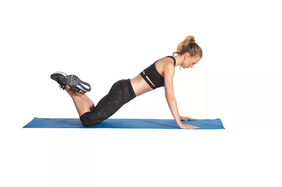 flexion modificada para para aprender calistenia