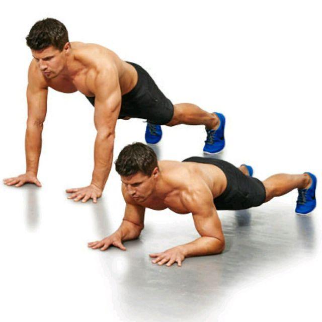 ejercicio de calistenia para los triceps