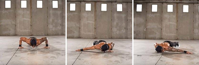 flexion para trabajar varios grupos de musculos